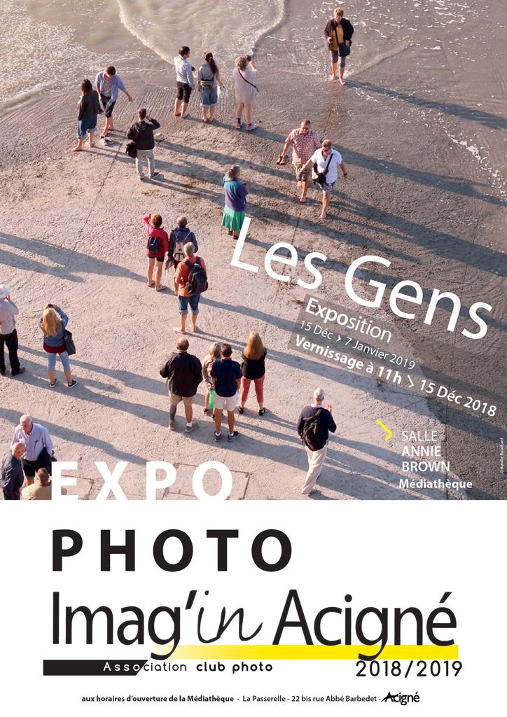 Affiche Exposition Imagin'Acigné 2018 Les Gens